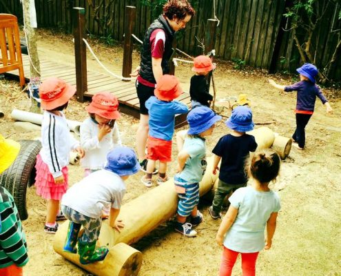 Play equip for local childcare ctr