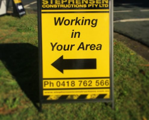 Working in your area